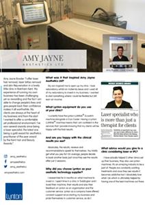 Amy Jayne Bowler Lynton Lasers 25 Years Profile