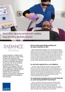 Radiance MediSpa Lynton 25 Years Profile