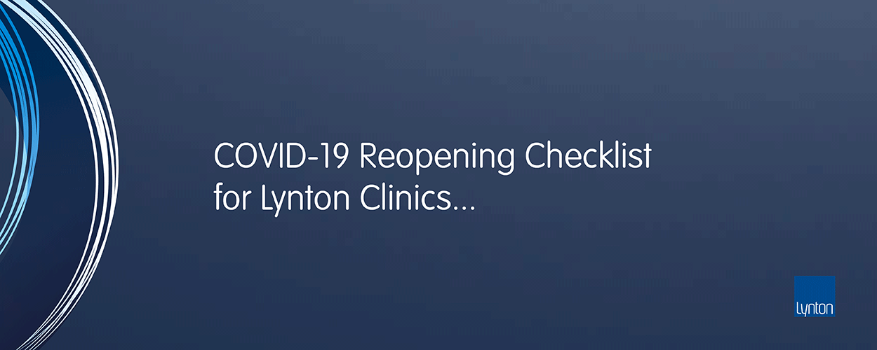 Lynton Lasers COVID-19 Reopening Checklist for Aesthetic Clinics