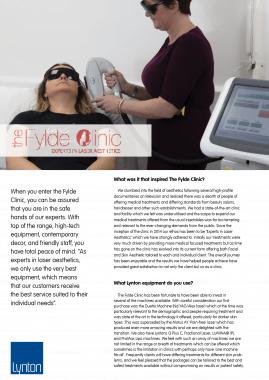 Fylde Clinic Lynton Lasers Celebrating 25 Years Case Study
