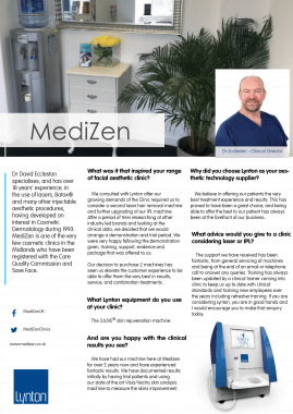 Medizen Lynton Lasers Celebrating 25 Years 3JUVE Case Study