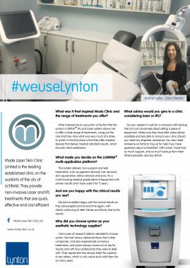 Mode Laser Clinic Lynton Lasers Celebrating 25 Years LUMINA Case Study