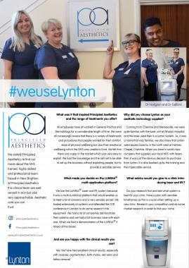 Principled Aesthetics Lynton Lasers Celebrating 25 Years LUMINA Case Study