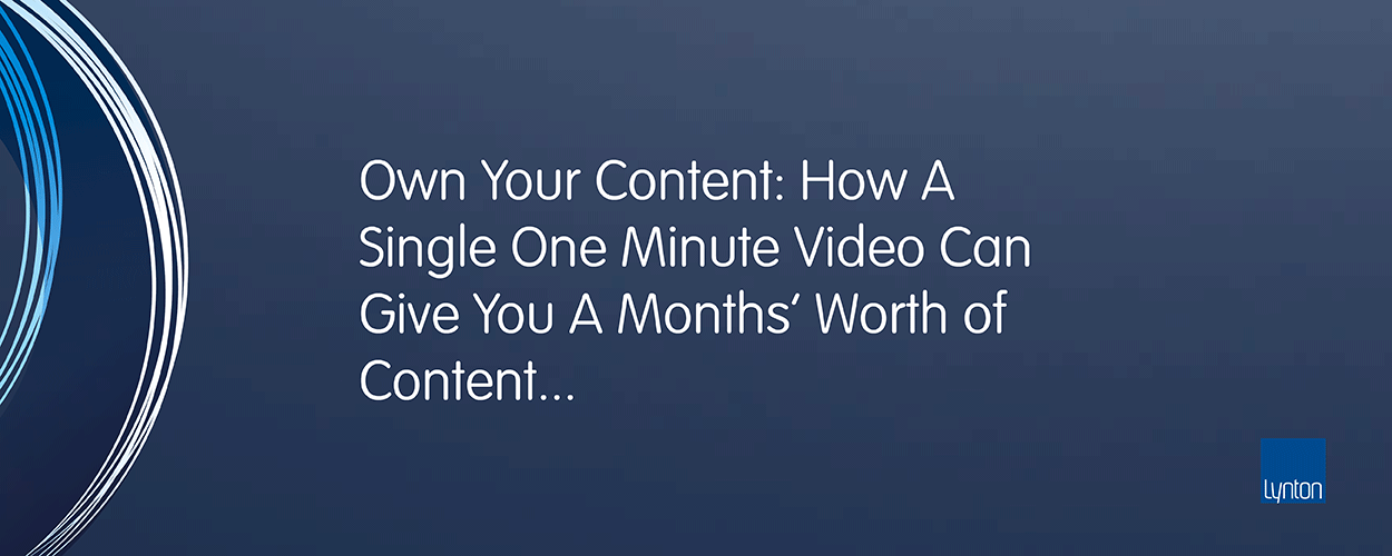 Free Webinar: How A Single One Minute Video Can Give You A Months' Worth of Social Media Content