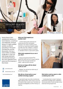 Setsuko Beauty Lynton Lasers Celebrating 25 Years Case Study
